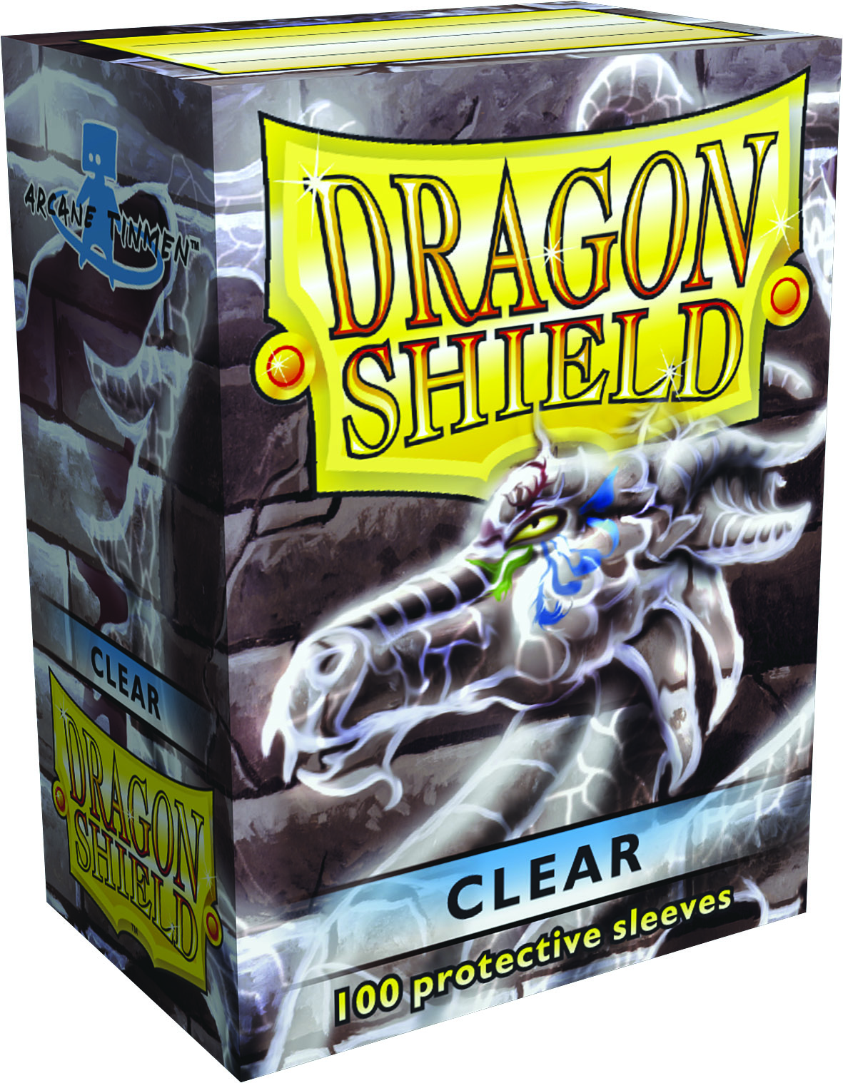 Dragon Shields: (100) Clear Box Front