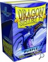 Dragon Shields: (100) Metallic Purple Box Front