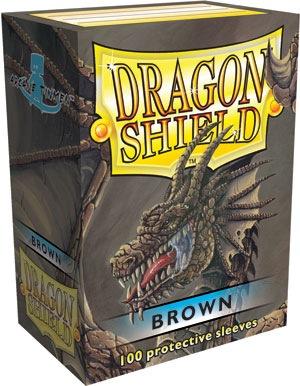 Dragon Shields: (100) Brown Box Front