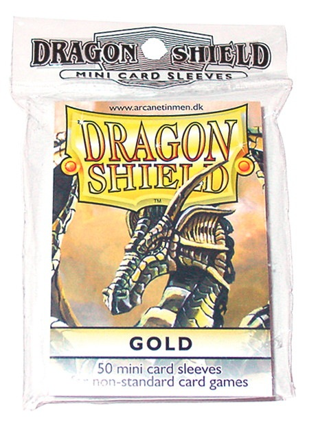 Dragon Shields Mini: (50) Gold Box Front
