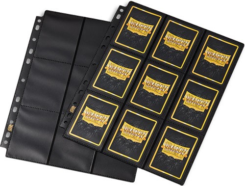 Dragon Shield: (50) 18-pocket Binder Pages Clear Sideloader Non Glare Game Box
