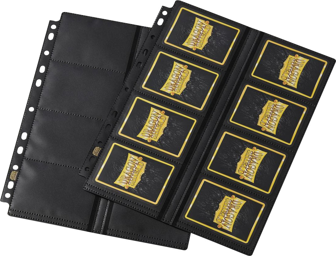 Dragon Shield: (50) 16-pocket Binder Pages Clear Center Loader Non Glare Game Box