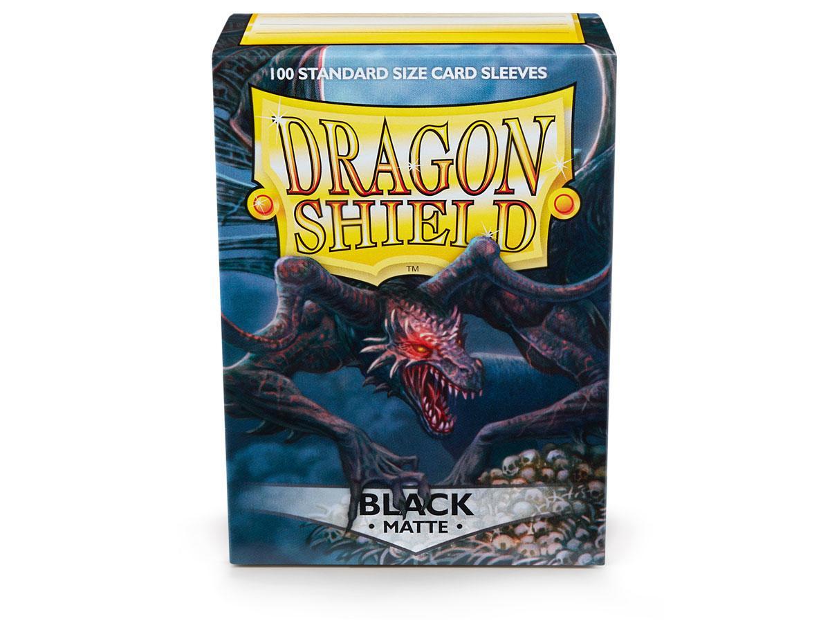Dragon Shields: (100) Matte Black Game Box