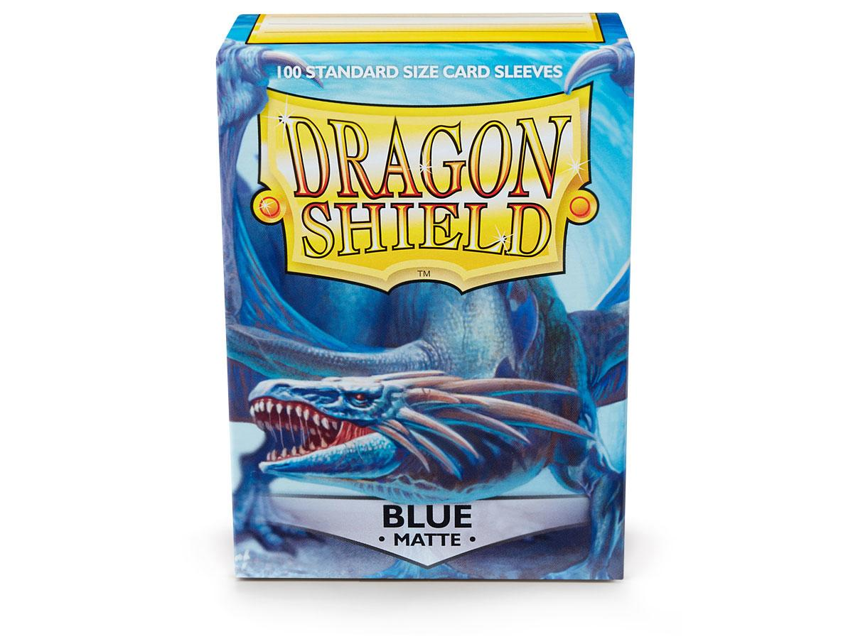 Dragon Shields: (100) Matte Blue Game Box