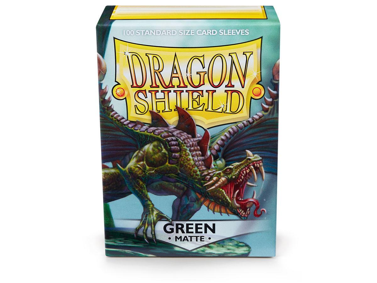 Dragon Shields: (100) Matte Green Game Box
