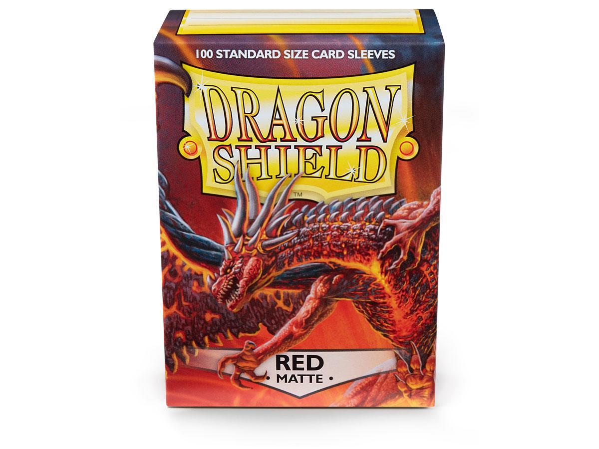 Dragon Shields: (100) Matte Red Game Box