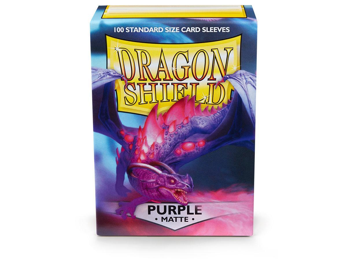 Dragon Shields: (100) Matte Purple Game Box
