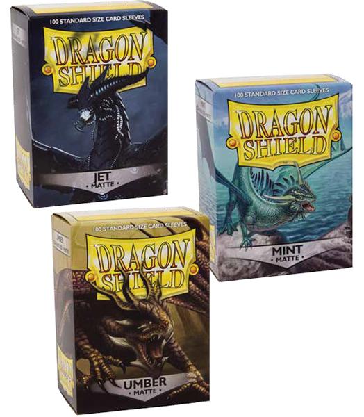 Dragon Shields: (100) Matte Umber Box Front