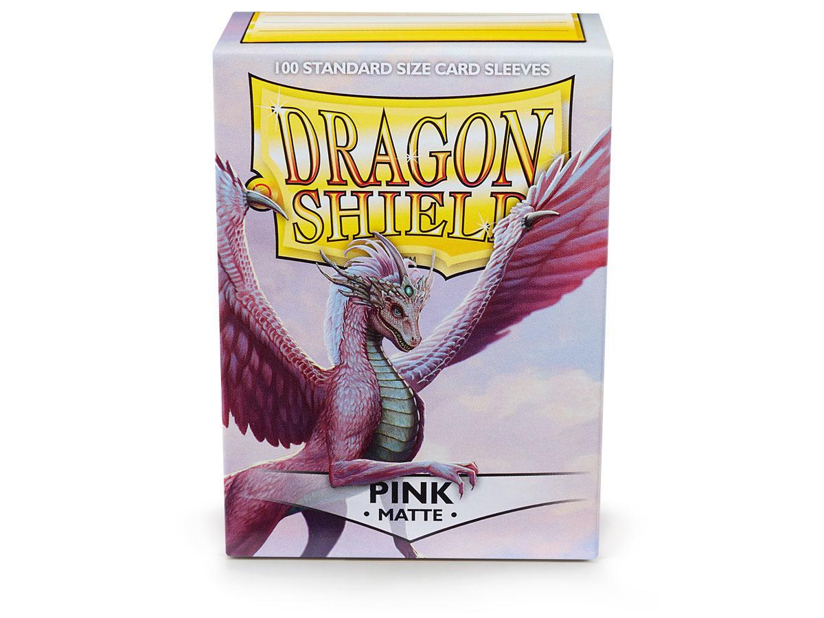 Dragon Shields: (100) Matte Pink Game Box