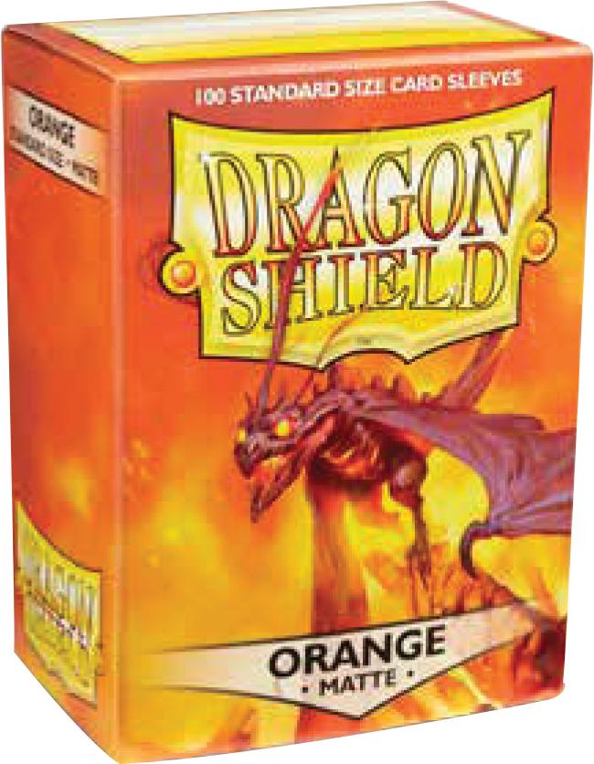 Dragon Shields: (100) Matte Orange Box Front