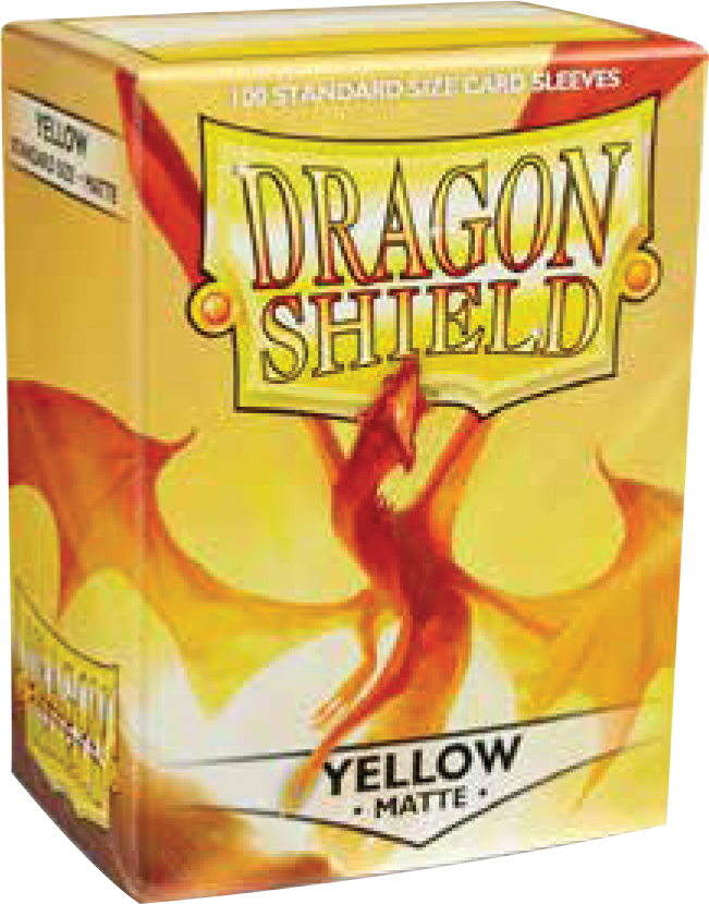 Dragon Shields: (100) Matte Yellow Box Front