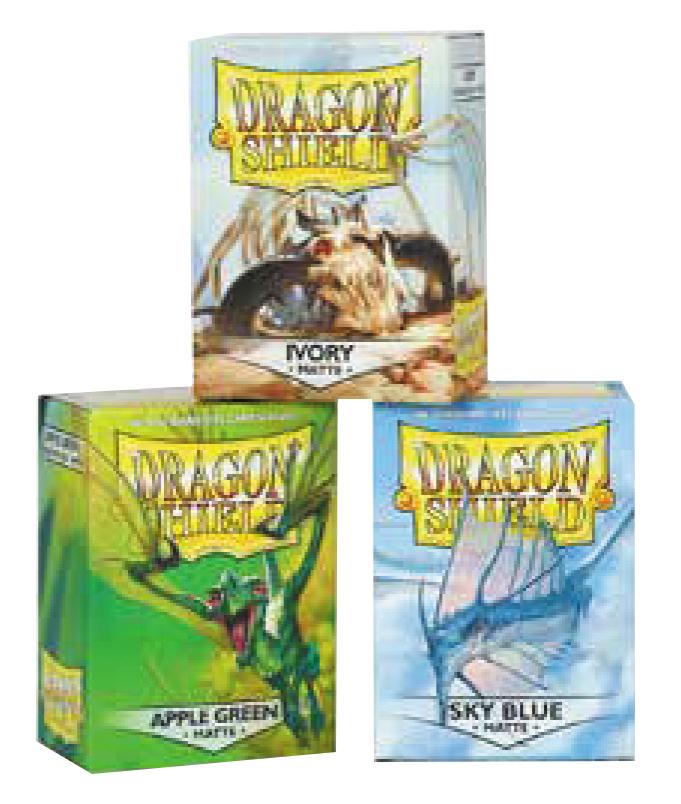 Dragon Shields: (100) Matte Ivory Box Front
