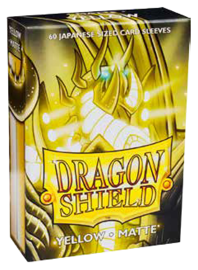 Dragon Shields Japanese: (60) Matte Yellow Box Front