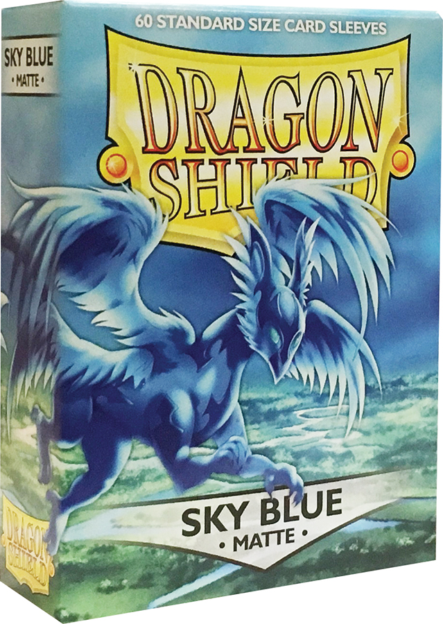 Dragon Shields: (60) Matte Sky Blue Box Front