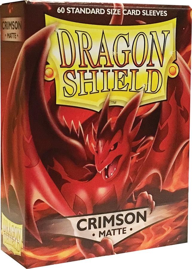 Dragon Shields: (60) Matte Crimson Box Front