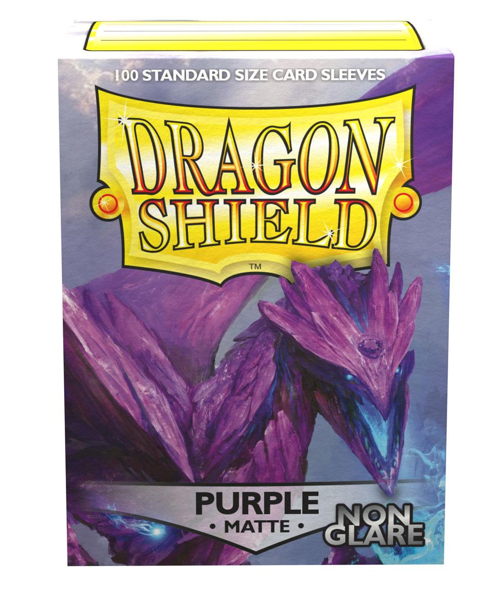 Dragon Shields: (100) Non Glare Matte Purple Game Box