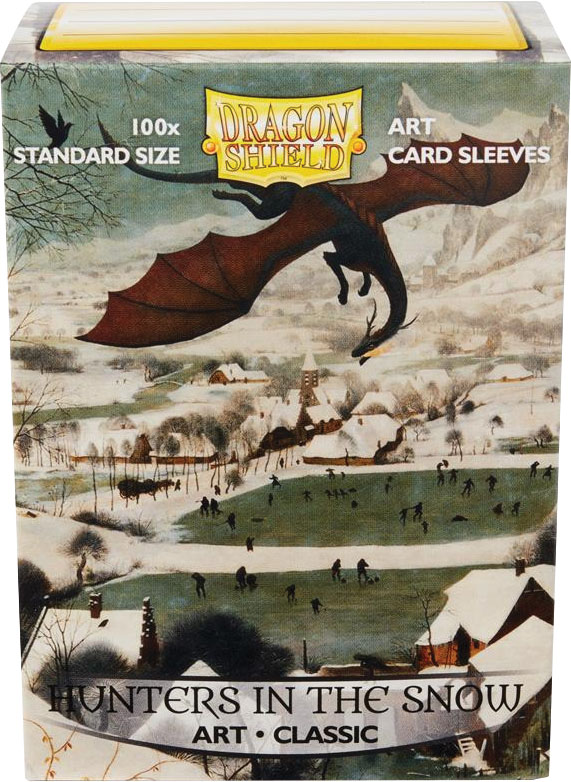 Dragon Shields: (100) Art Sleeves Classic Hunters In The Snow Game Box