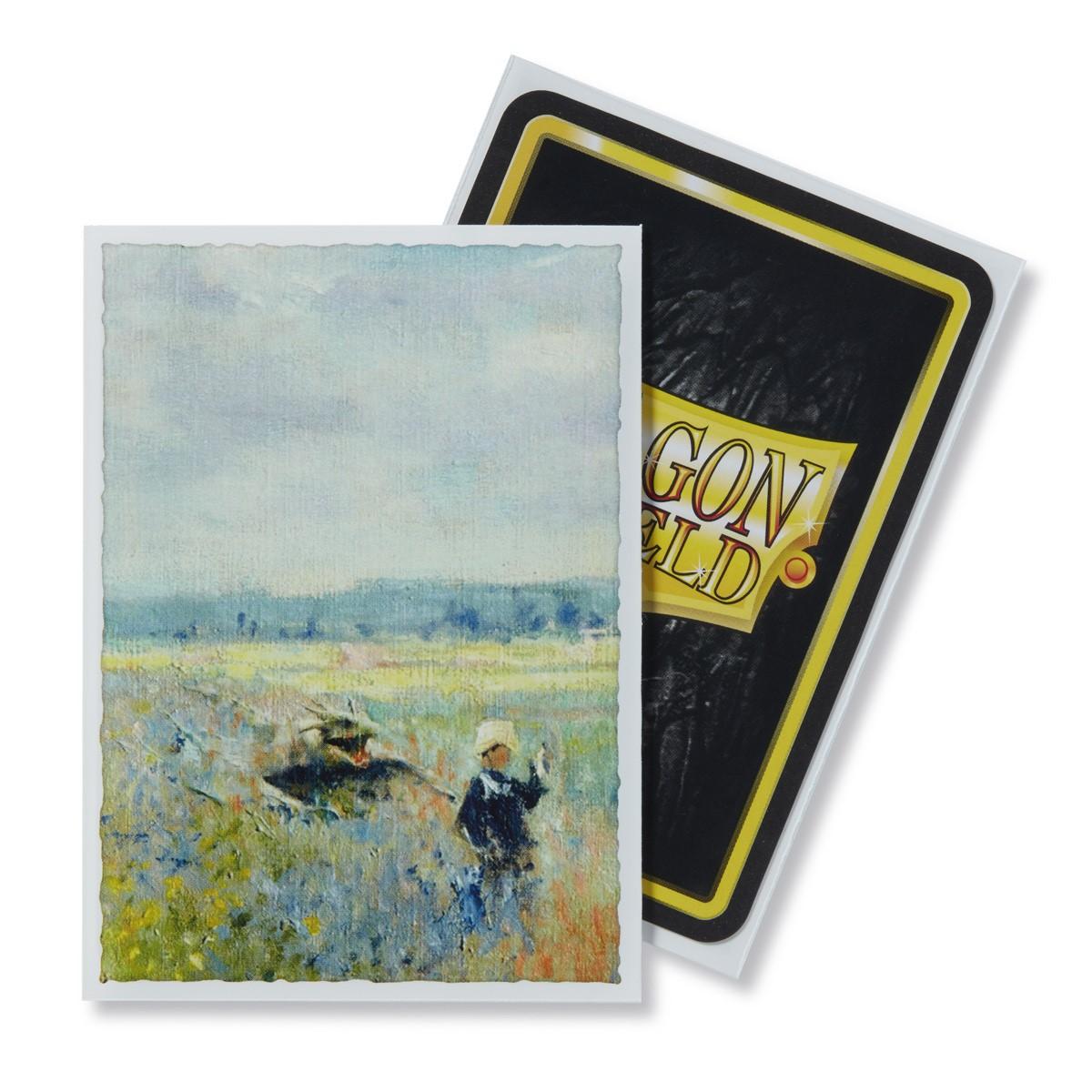 Dragon Shields: (100) Art Sleeves Classic Poppy Field Game Box