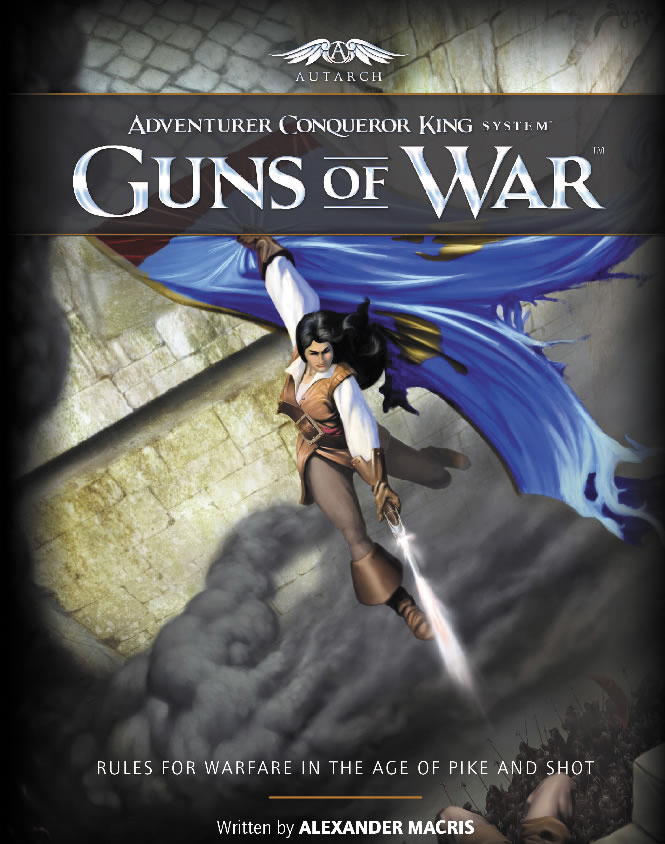 Adventurer Conqueror King System: Guns Of War Box Front