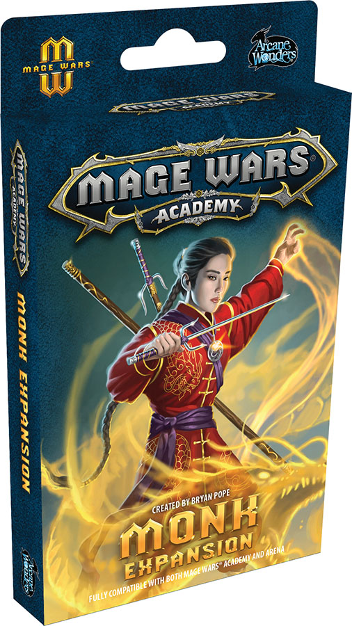 Mage Wars Academy Monk Expansion Game Box