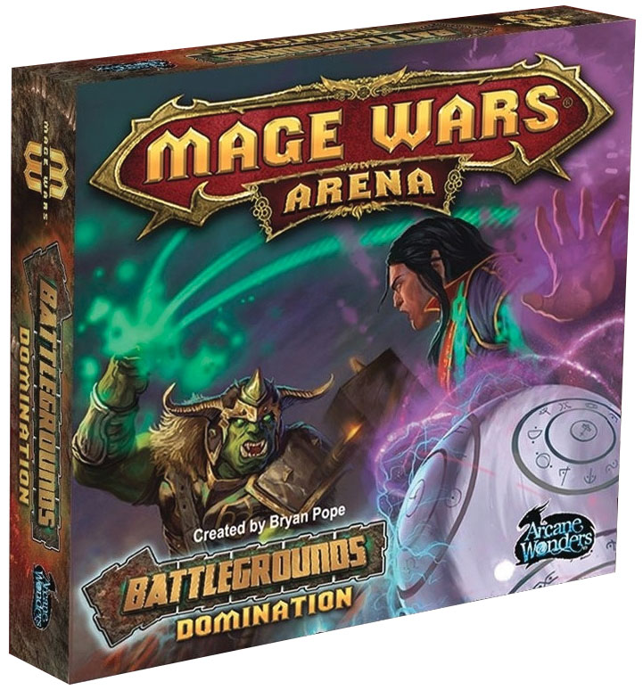 Mage Wars Arena: Battlegrounds Domination Box Front