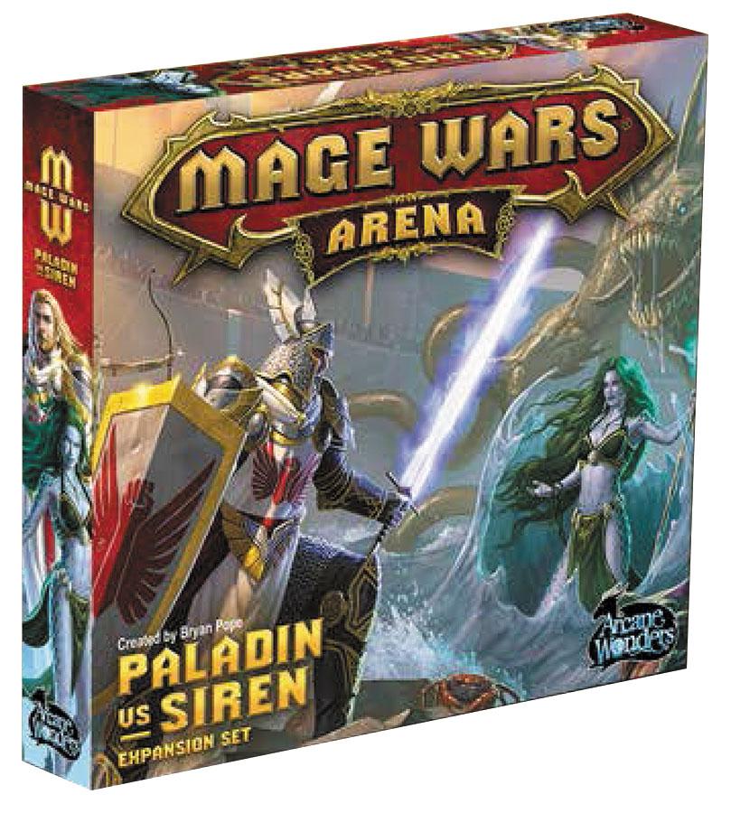 Mage Wars Arena: Paladin Vs Siren Expansion Box Front