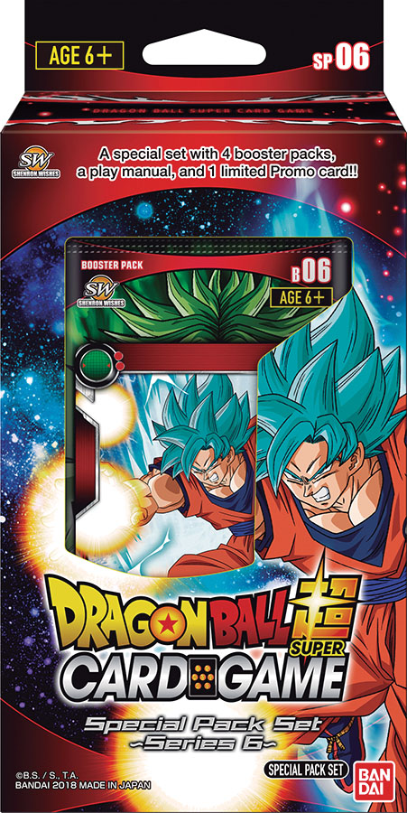 Dragon Ball Super Special Pack Set 6 Display (6) Game Box