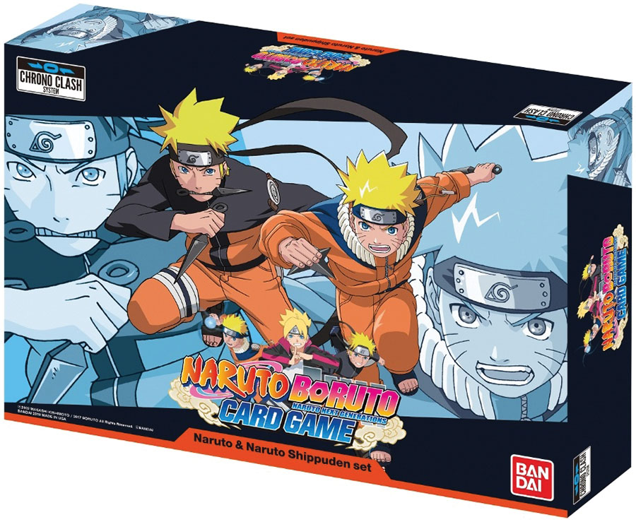 Naruto Boruto 2-player Card Game: Naruto & Naruto Shippuden Set Game Box