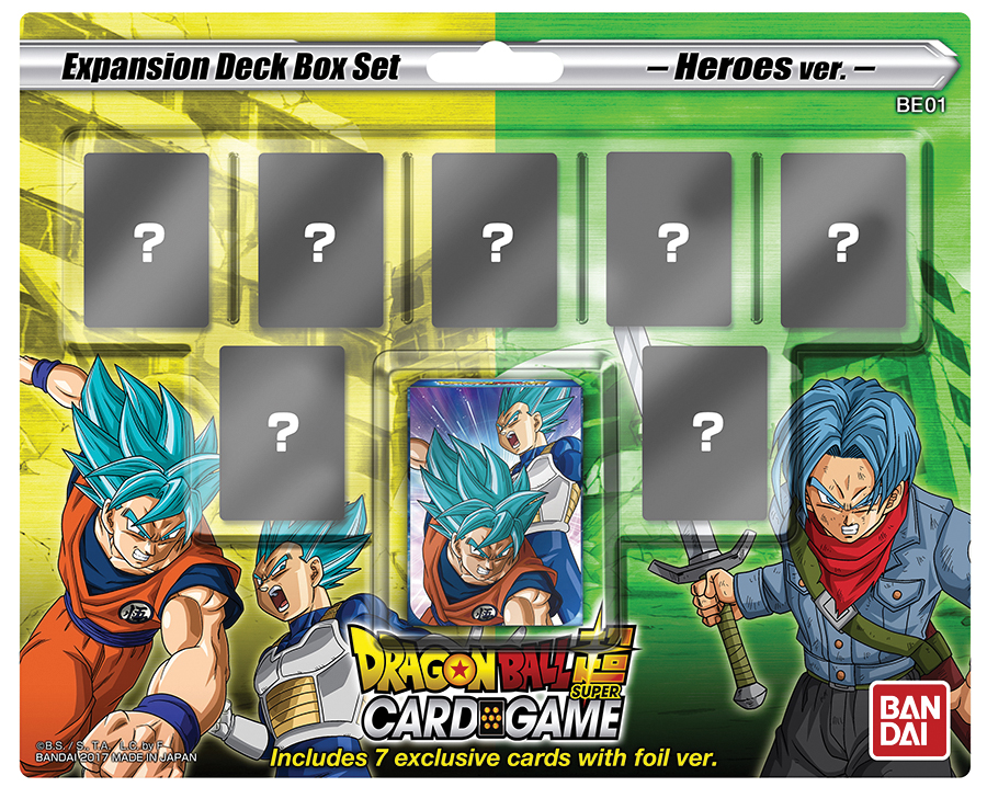 Dragon Ball Super Expansion Deck Box Set: Mighty Heroes Box Front