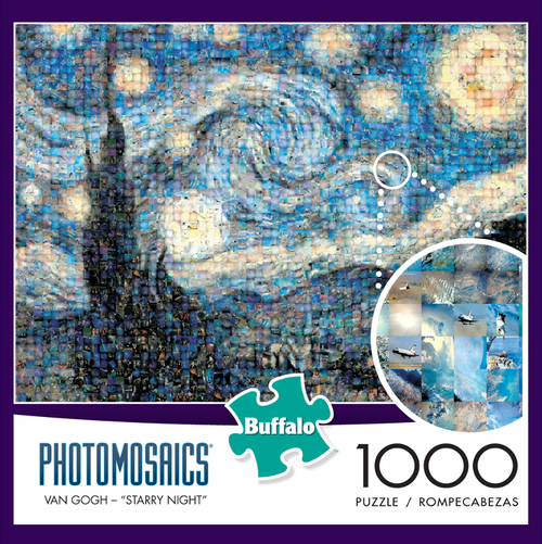 Photomosaic - Starry Night Puzzle (1000 Pieces) Game Box