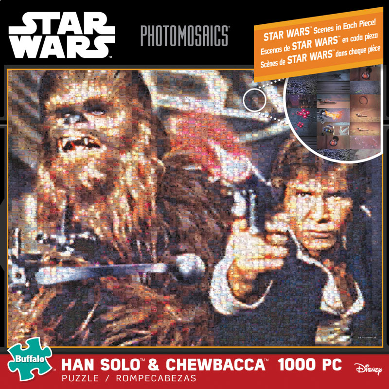Photomosaic - Han Solo And Chewbacca Puzzle (1000 Pieces) Game Box