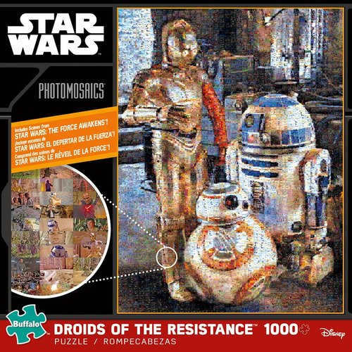 Photomosaic - Star Wars Droids Of The Resistance Puzzle (1000 Pieces) Game Box