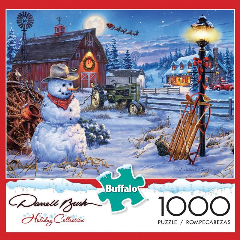 Country Christmas Puzzle (1000 Pieces) Box Front