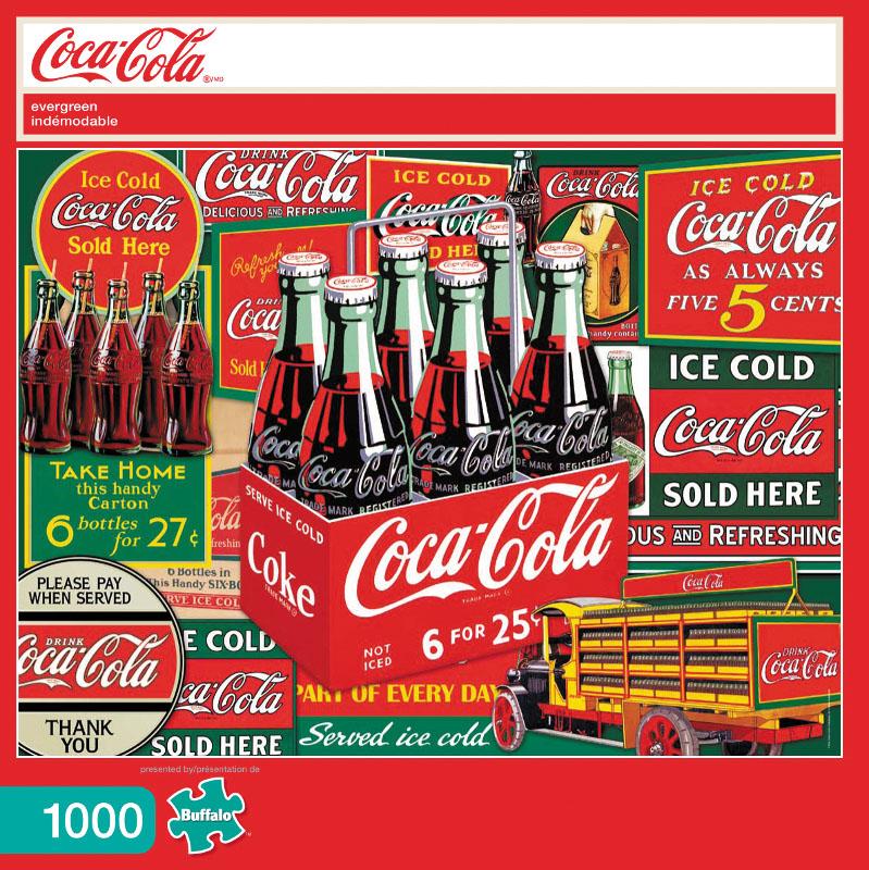 Coca Cola Evergreen Puzzle (1000 Pieces) Box Front