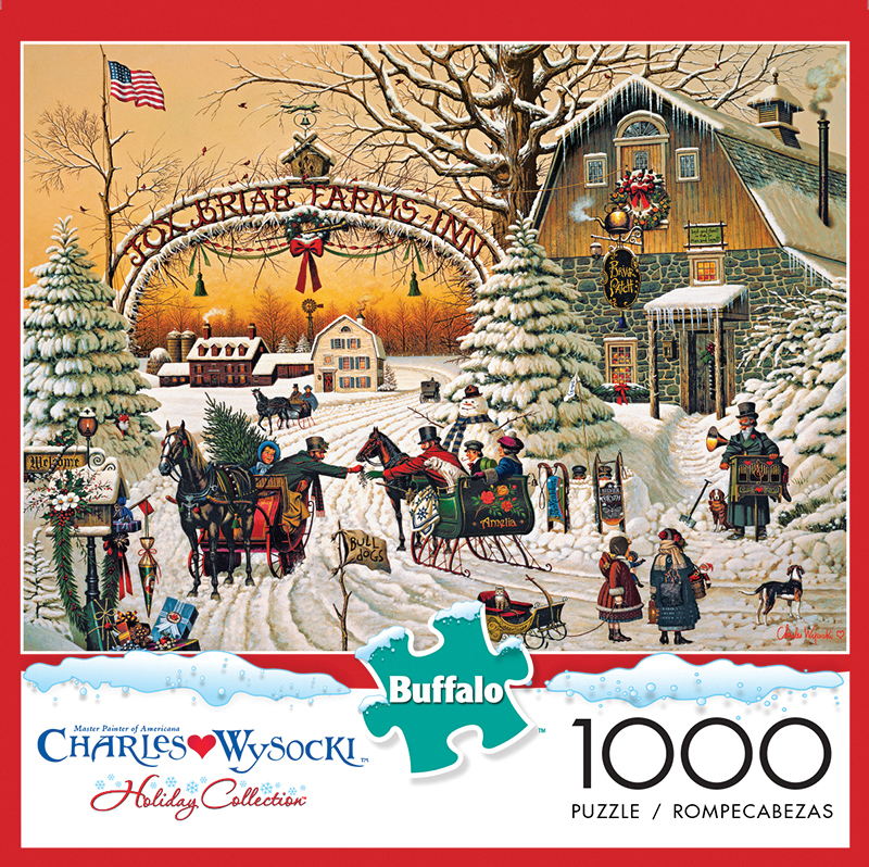 A Christmas Greeting Puzzle (1000 Pieces) Box Front
