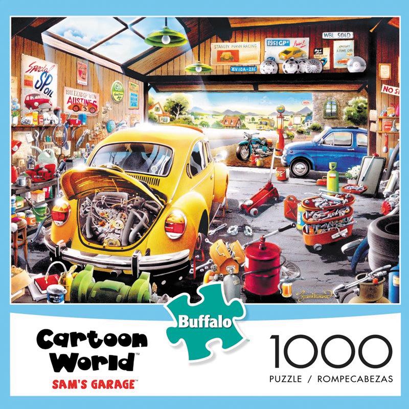 Cartoon World - Sam`s Garage Puzzle (1000 Pieces) Box Front