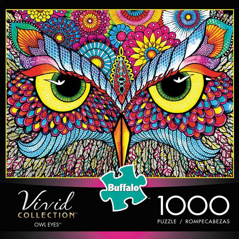 Vivid: Owl Eyes Puzzle (1000 Pieces) Box Front