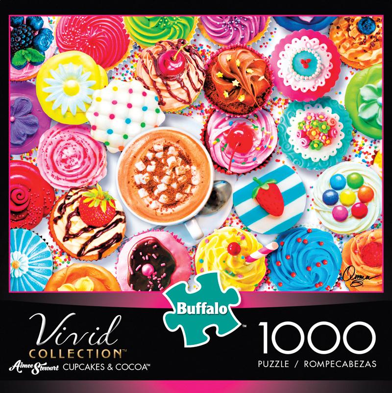 Vivid: Cupcakes & Cocoa Puzzle (1000 Pieces) Box Front
