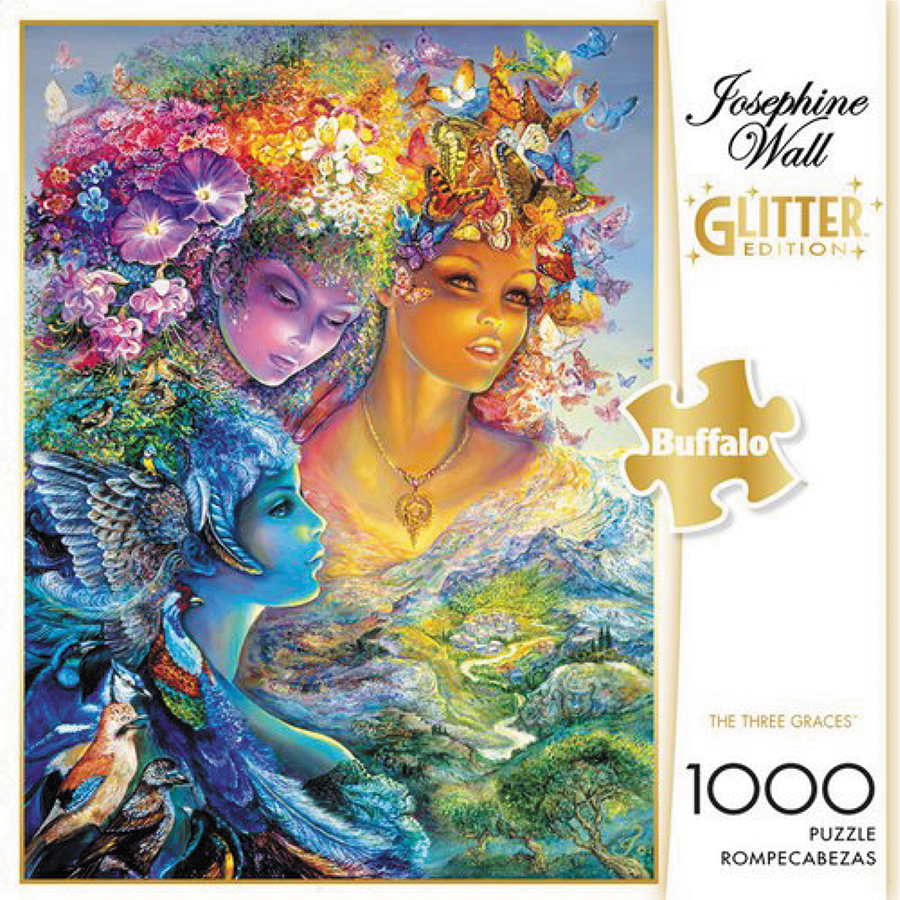 The Three Graces Puzzle: Glitter Edition (1000 Pieces) Box Front