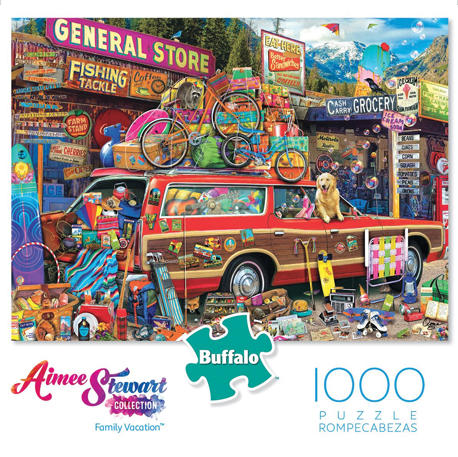 Family Vacation Puzzle (1000 Pieces) Box Front