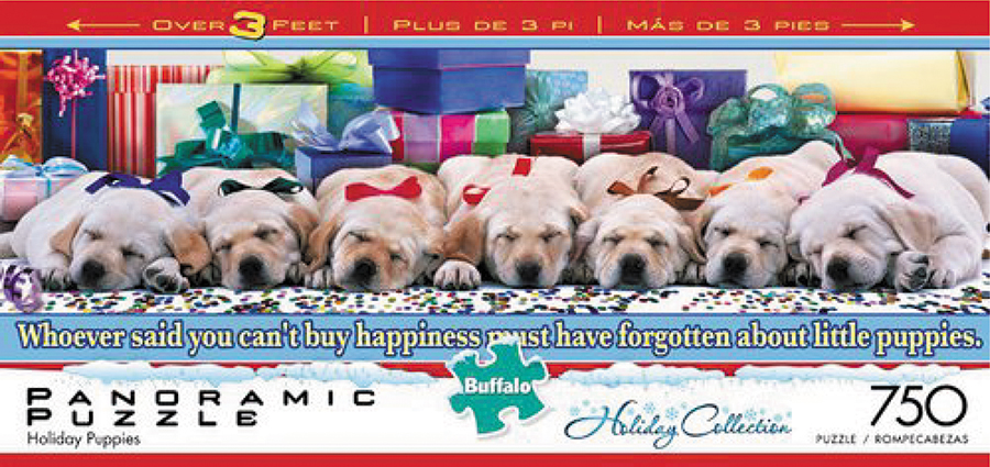 Panoramics - Holiday Puppies Puzzle (750 Pieces) Box Front