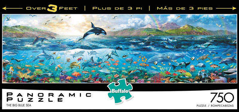 Panoramics - The Big Blue Sea Puzzle (750 Pieces) Box Front