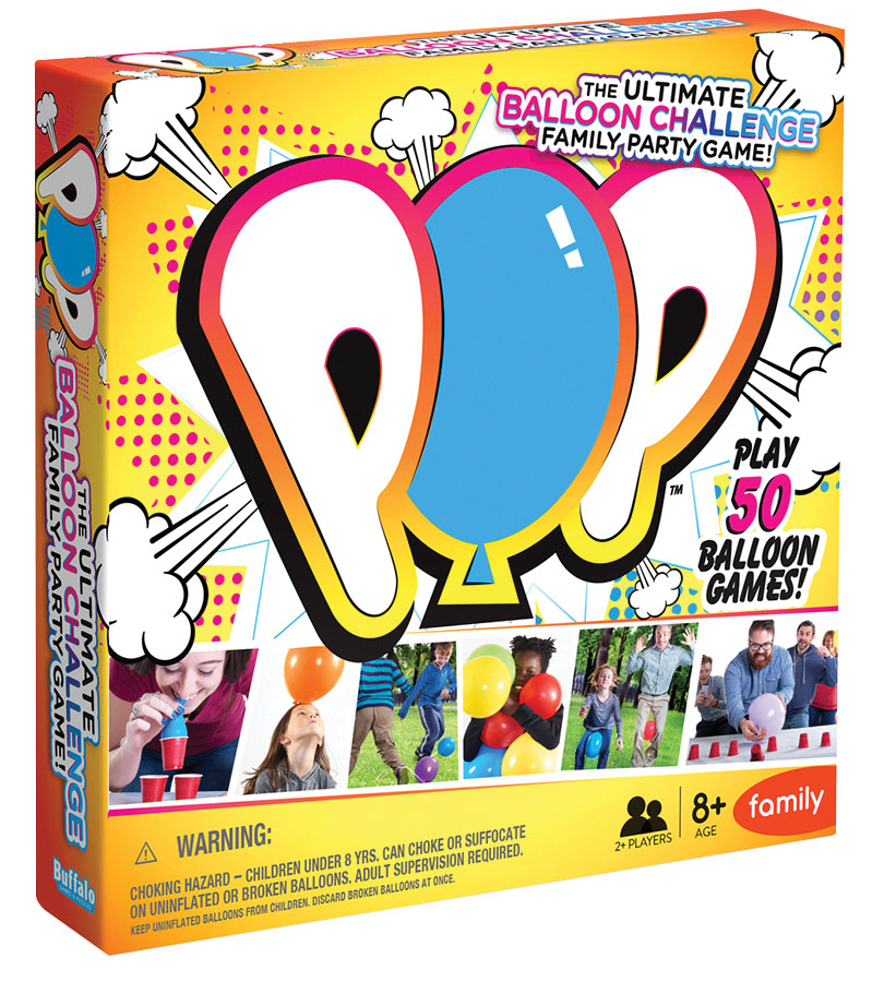 Pop: The Ultimate Balloon Challenge Family Party Game Game Box