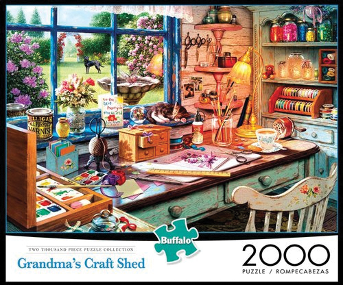 Grandma`s Craft Shed Puzzle (2000 Pieces) Box Front