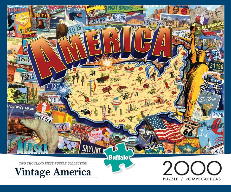Vintage America Puzzle (2000 Pieces) Box Front