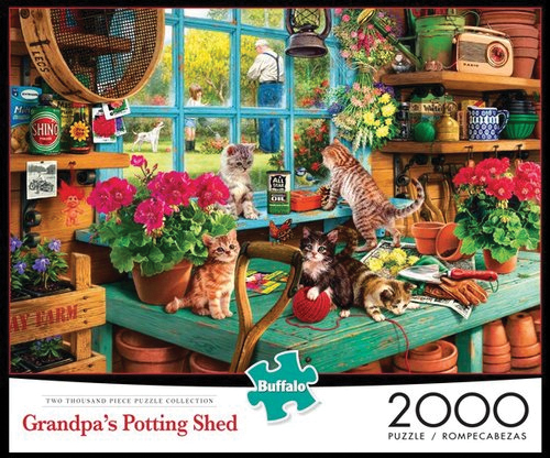 Grandpa`s Potting Shed Puzzle (2000 Pieces) Box Front