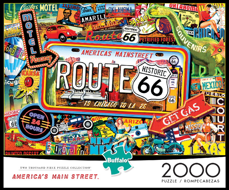 America`s Main Street Puzzle (2000 Pieces) Box Front