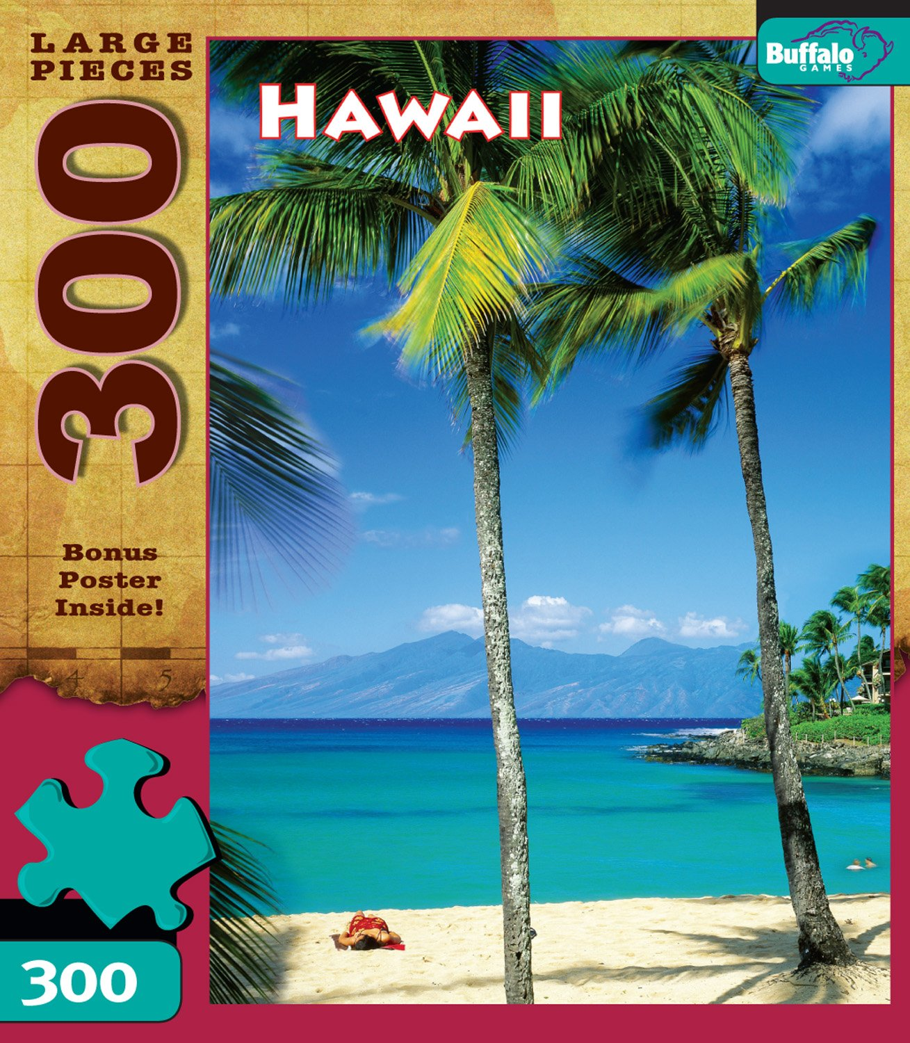 Travel: Hawaii Puzzle (300 Large Pieces) Game Box
