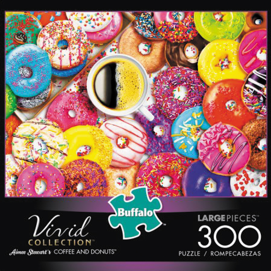 Vivid: Coffee And Donuts Puzzle (300 Pieces) Box Front