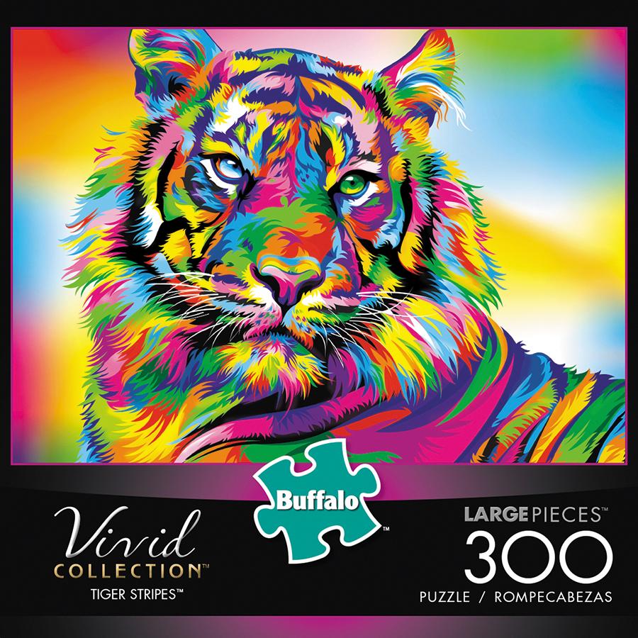 Vivid: Tiger Stripes Puzzle (300 Pieces) Box Front